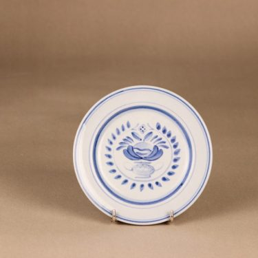 Arabia Blue Rose dinner plate 14.5 cm, designer Svea Granlund, hand-painted, flower decoration