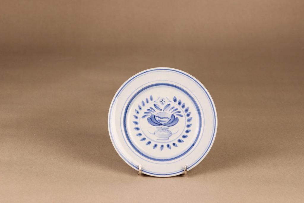 Arabia Blue Rose dinner plate 14.5 cm, designer Svea Granlund, hand-painted, flower decoration