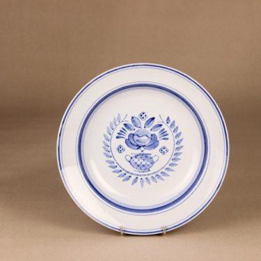 Arabia Blue Rose lautanen, syvä 24 cm, suunnittelija Svea Granlund, syvä 24 cm, käsinmaalattu,kukka-aihe kuva 2