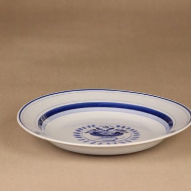 Arabia Blue Rose soup plate 21.7 cm, designer Svea Granlund, hand-painted, flower decoration