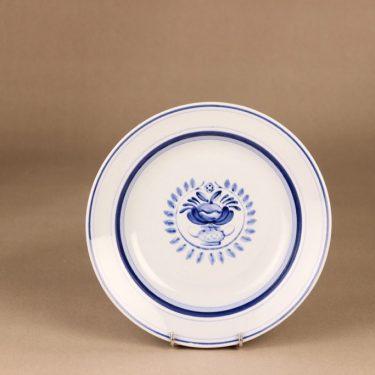Arabia Blue Rose lautanen, syvä 21.7 cm, suunnittelija Svea Granlund, syvä 21.7 cm, käsinmaalattu,kukka-aihe kuva 2