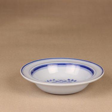 Arabia Blue Rose lautanen, syvä, suunnittelija Svea Granlund, syvä  , käsinmaalattu,kukka-aihe