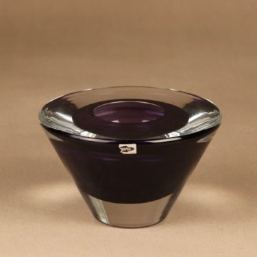Nuutajärvi OT24 art glass bowl designer Oiva Toikka