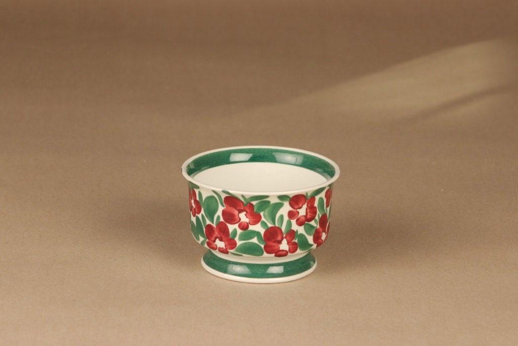 Arabia Purpurijenkka kulho, käsinmaalattu, suunnittelija Ulla Procope, käsinmaalattu, kukka, signeerattu