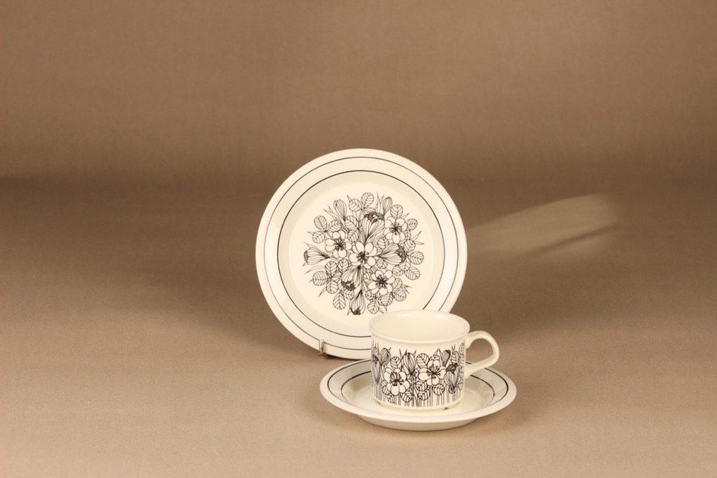 Arabia Krokus coffee cup and plates designer Esteri Tomula