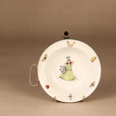 Arabia Satuprinsessa children's plate, with a metal water tank,