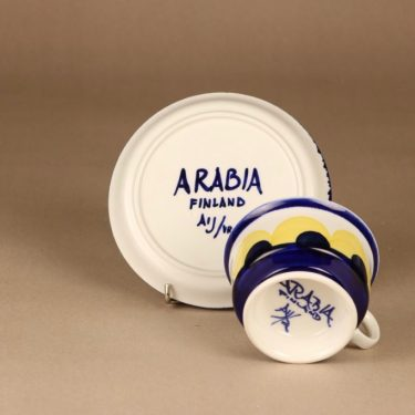 Arabia Paju teekuppi, käsinmaalattu, suunnittelija Anja Jaatinen-Winquist, käsinmaalattu, signeerattu kuva 3