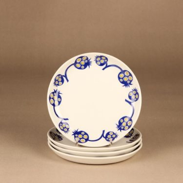 Arabia Terttu lautanen, sininen, 4 kpl, suunnittelija , retro