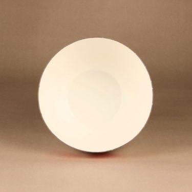 Finel Sydän bowl, white, red, designer Kaj Franck, 2