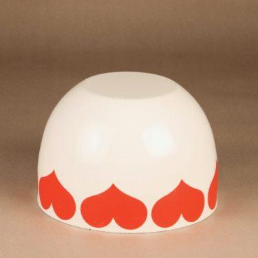 Finel Sydän bowl, white, red, designer Kaj Franck, 3