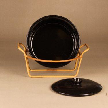 Arabia Kilta kulho, rottinkitelineessä, suunnittelija Kaj Franck, rottinkitelineessä kuva 2
