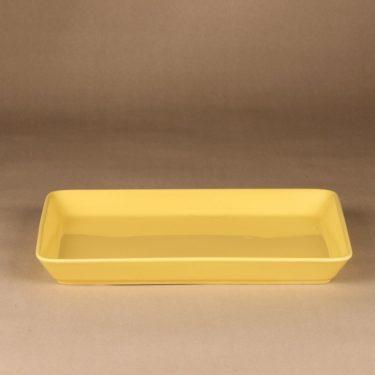 Arabia Teema platter, yellow, designer Kaj Franck