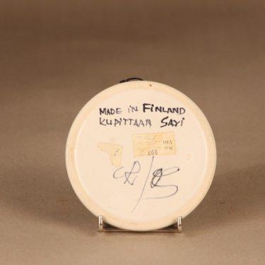 Kupittaan savi 997   koristelautanen, käsinmaalattu, suunnittelija Gudrun Raunio, käsinmaalattu, signeerattu kuva 2