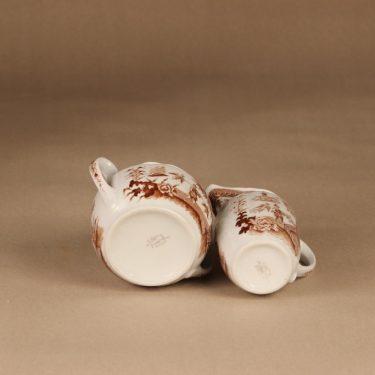 Arabia Singapore sokerikko ja kermakko, ruskea, suunnittelija , kuparipainokoriste kuva 2