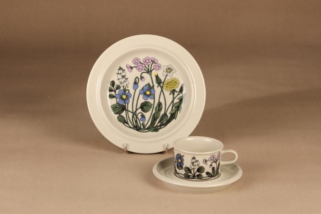 Arabia Flora coffee cup and plates designer Esteri Tomula