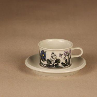 Arabia Flora kahvikuppi ja lautaset, monivärinen, suunnittelija Esteri Tomula, serikuva, kukka kuva 2