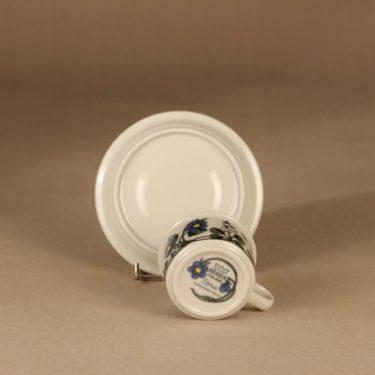 Arabia Flora kahvikuppi ja lautaset, monivärinen, suunnittelija Esteri Tomula, serikuva, kukka kuva 4