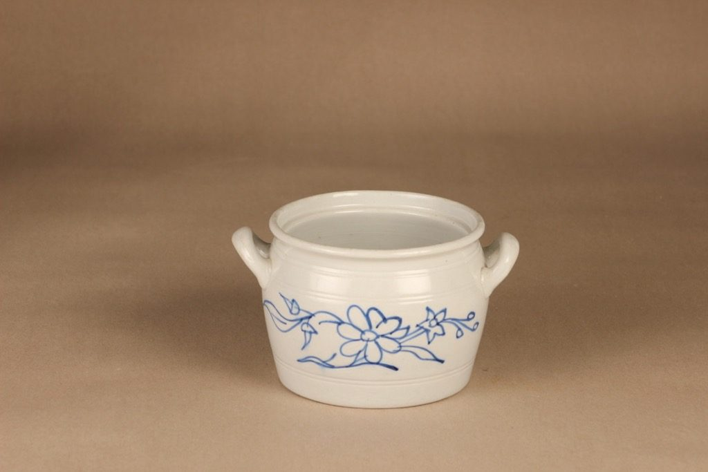 Arabia B 1 pot, 1 l, flower decoration, cobalt painting