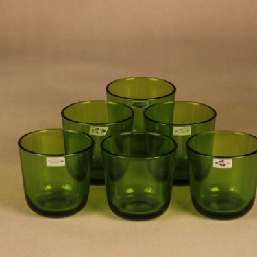 Nuutajärvi 5601/5023 pitcher 1 l ja glasses 18 cl with rattan basket designer Kaj Franck 4