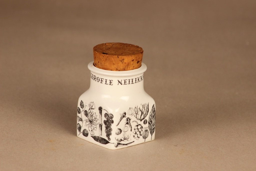 Arabia spice jar Carnation designer Esteri Tomula