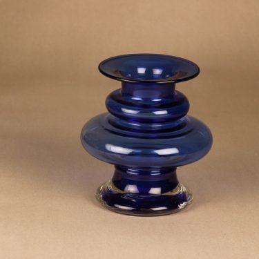 Riihimäen lasi Tornado vase blue designer Tamara Aladin