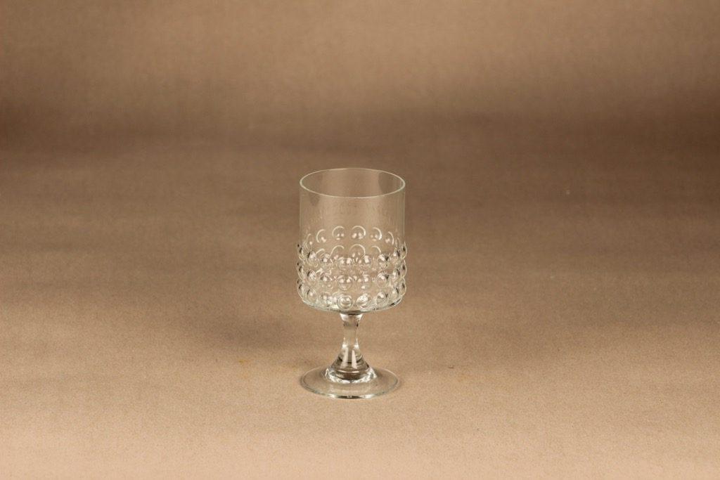 Riihimäen lasi Grappo white wine glass designer Nanny Still
