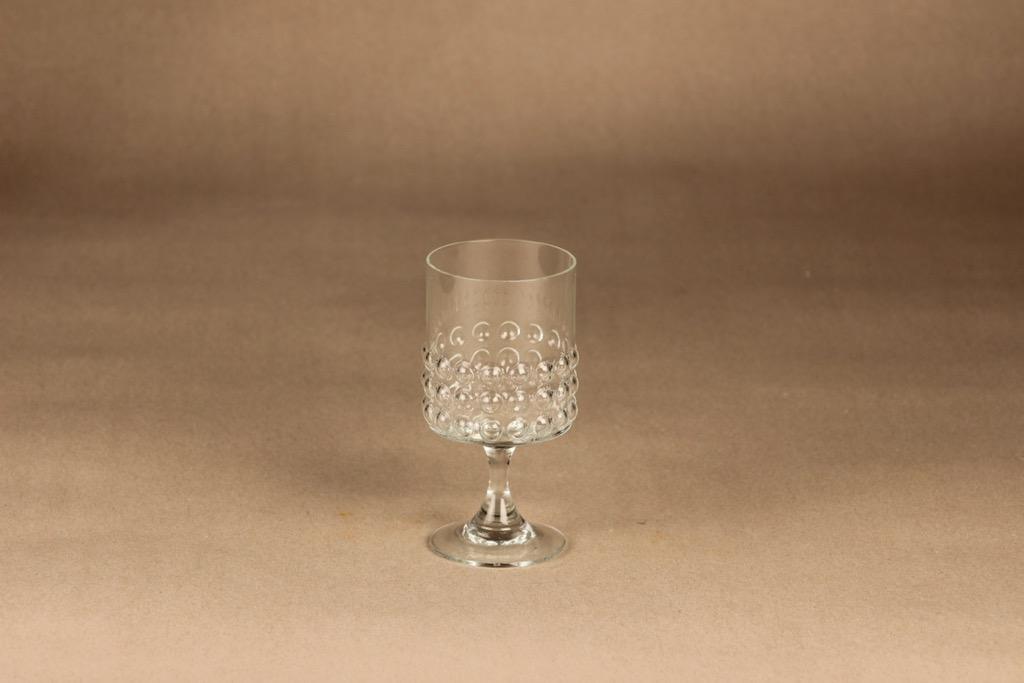 Riihimäen lasi Grappo valkoviinilasi, jalallinen, suunnittelija Nanny Still, jalallinen