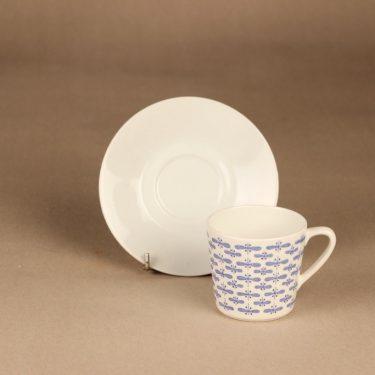 Arabia Perho kahvikuppi, sininen, suunnittelija Raija Uosikkinen, perhonen kuva 2