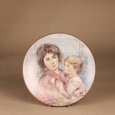 Arabia Äiti ja lapsi annual plate, 1990, numbered, designer Edna Hibel