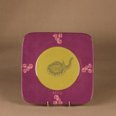 Arabia Flora & Fauna annual plate, 2005, designer Eeva Sivula & Pekka Toivanen, silk screening, snake