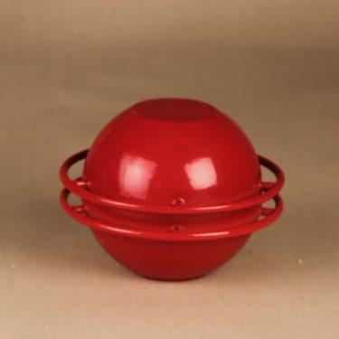 Rosenlew Saturnus pata, punainen, suunnittelija Timo Sarpaneva, rengasmalli