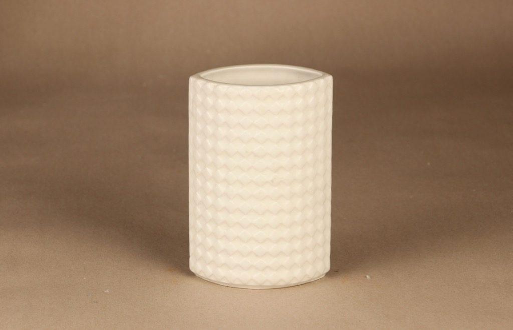 Arabia Harlekiini vase white designer Kaarina Aho