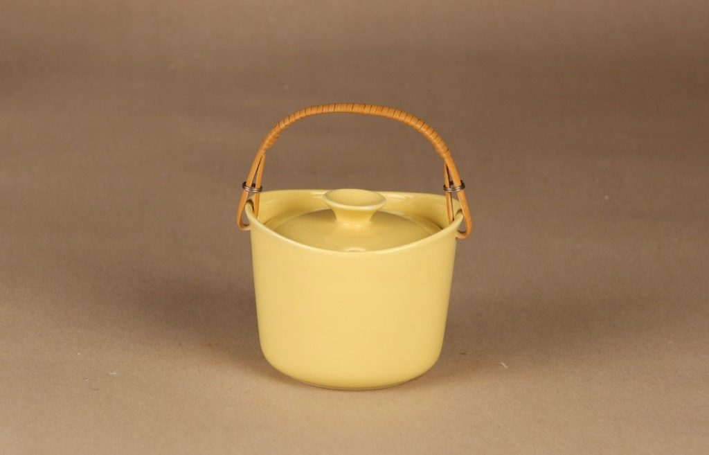 Arabia AL marmelaadirasia, rottinkikahvalla, suunnittelija Ulla Procope, rottinkikahvalla,