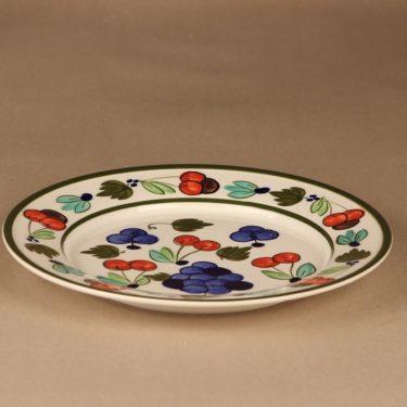 Arabia Palermo lautanen, matala, suunnittelija Dorrit von Fieandt, matala, käsinmaalattu, signeerattu