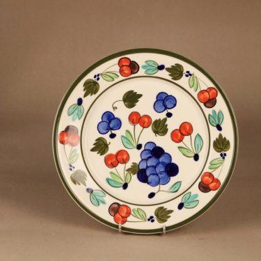 Arabia Palermo lautanen, matala, suunnittelija Dorrit von Fieandt, matala, käsinmaalattu, signeerattu kuva 2