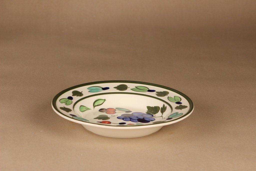 Arabia Palermo lautanen, syvä, suunnittelija Dorrit von Fieandt, syvä, käsinmaalattu, signeerattu