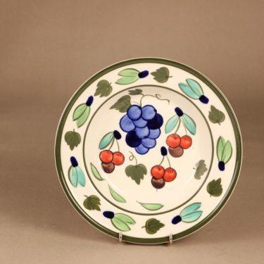 Arabia Palermo lautanen, syvä, suunnittelija Dorrit von Fieandt, syvä, käsinmaalattu, signeerattu kuva 2