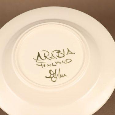 Arabia Palermo lautanen, syvä, suunnittelija Dorrit von Fieandt, syvä, käsinmaalattu, signeerattu kuva 3