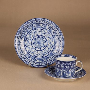 Rörstrand Cobolti coffee cup and plates designer Oiva Toikka