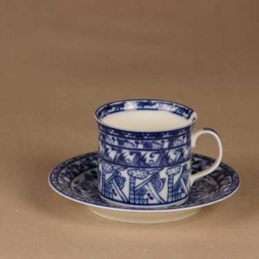 Rörstrand Cobolti coffee cup and plates designer Oiva Toikka 2