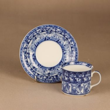 Rörstrand Cobolti coffee cup and plates designer Oiva Toikka 3