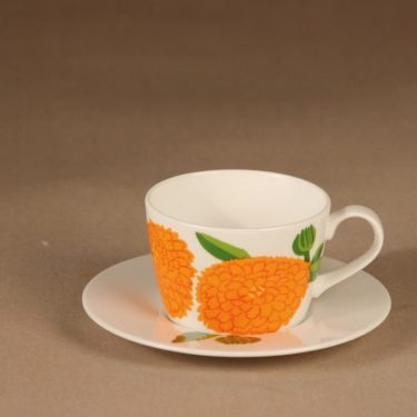 Iittala Primavera coffee cup, orange designer Maija Isola