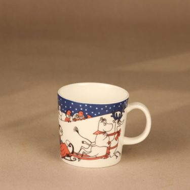 Arabia Moomin mug Christmas greetings designer Tove Slotte-Elevant