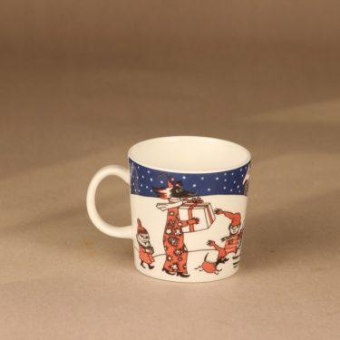 Arabia Muumi Joulutervehdys, muki, suunnittelija Tove Slotte-Elevant, muki, muumimuki, joulu kuva 3
