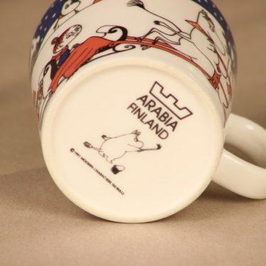 Arabia Muumi Joulutervehdys, muki, suunnittelija Tove Slotte-Elevant, muki, muumimuki, joulu kuva 4