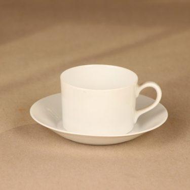 Arabia TM mokkakuppi, valkoinen, suunnittelija Kaj Franck, espressokuppi