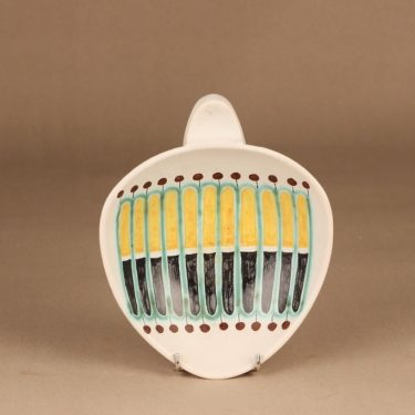 Kupittaan savi bowl hand-painted designer Gudrun Raunio