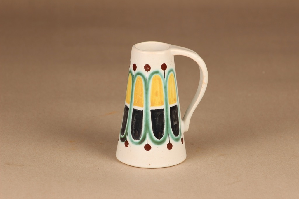 Kupittaan savi vase, hand-painted designer Gudrun Raunio