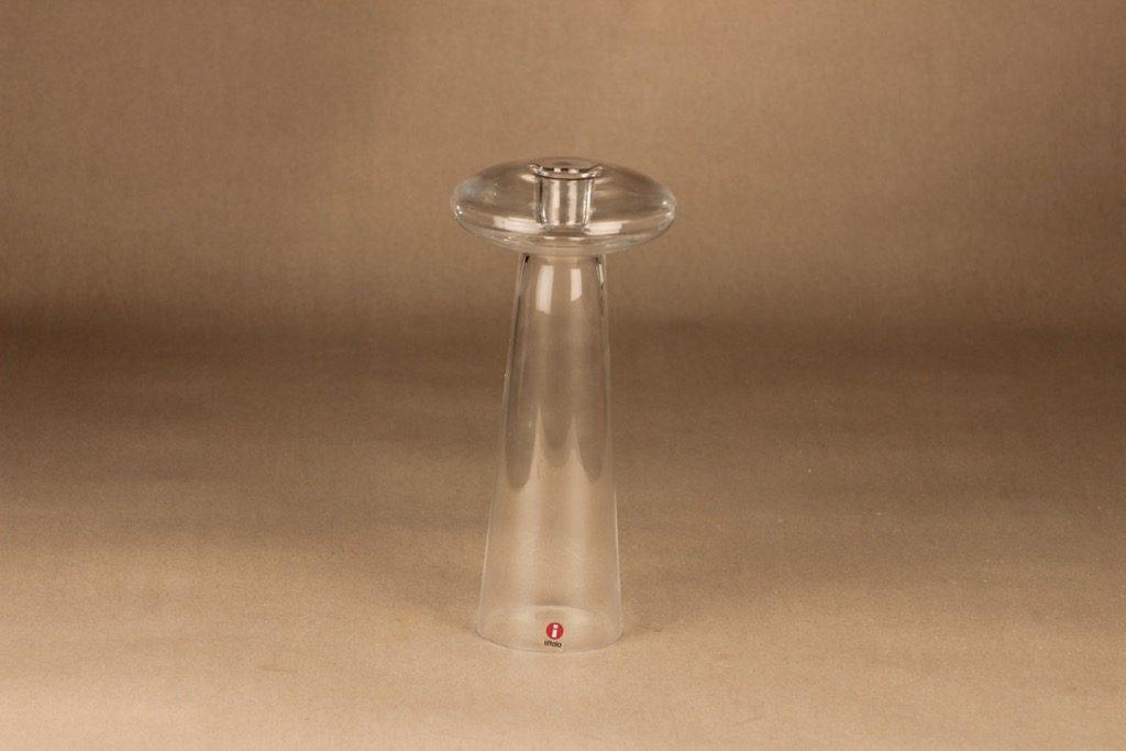 Iittala Atlas kynttilänjalka/kääntömaljakko, kirkas, suunnittelija Harri Koskinen,