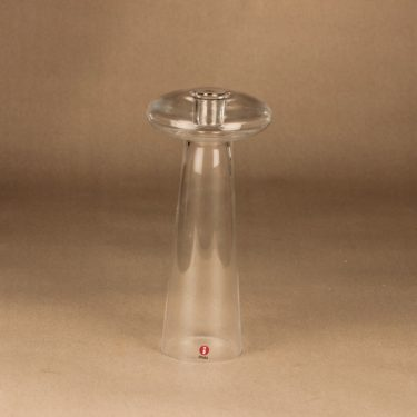 Iittala Atlas candle holder/vase clear designer Harri Koskinen